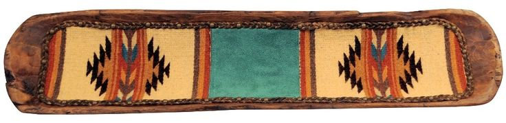 Large Zapotec Style Woven Tapestry Lined Wood Dough Bowl 36 inch rustic southwestern decor cripple creek