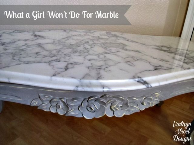 Marble Top Coffee Table Makeover Painted Furniture In 2018 Pinterest And
