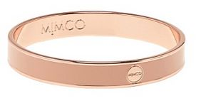 Mimco Narrow Enamel Bangle in Foundation and Rose Gold