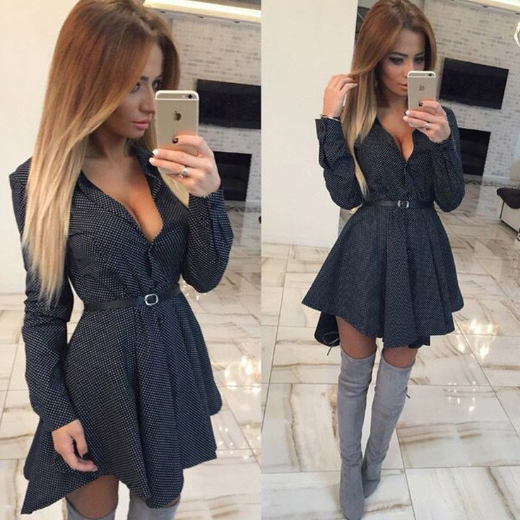 2016 Sexy Women Dress V-neck Dress