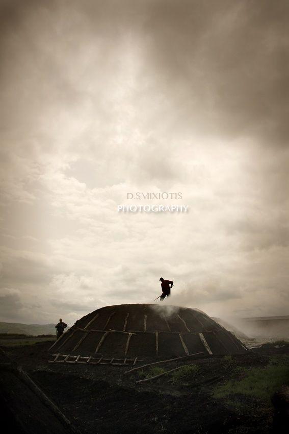 Charcoal production by Dimitris Smixiotis on 500px