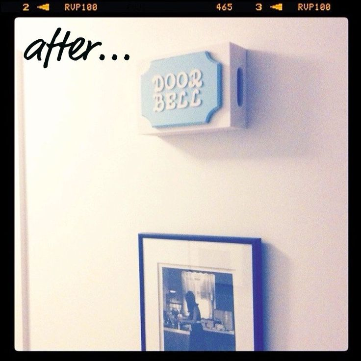 Small Town Chic: DIY doorbell cover