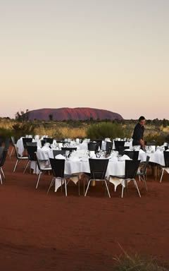 Dinner under the outback sky