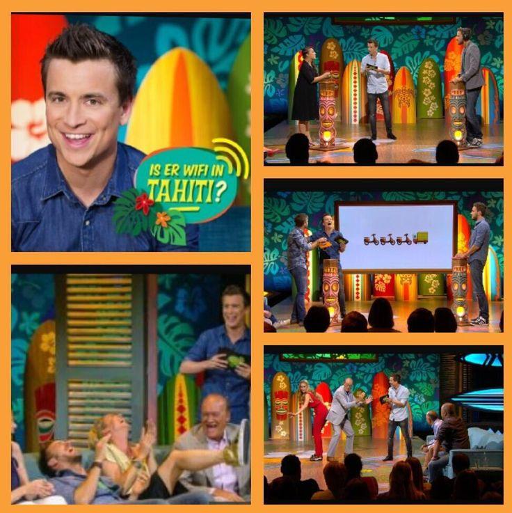 Vanavond om 20u25 @VTM , de allereerste 'Is er WiFi in Tahiti?' Wie kijkt en lacht met ons mee vanavond? #benieuwd