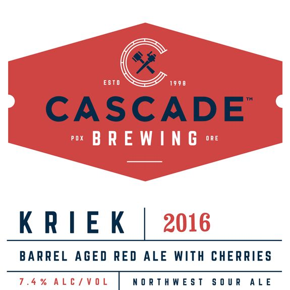 Cascade Kriek 2016 arrives in bottles, draft