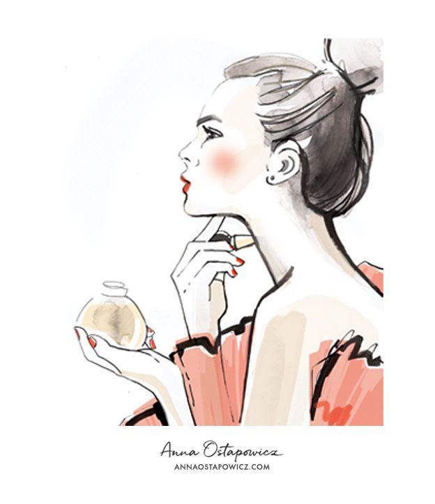 Portrait Illustration, Harper's Bazaar, Anna Ostapowicz