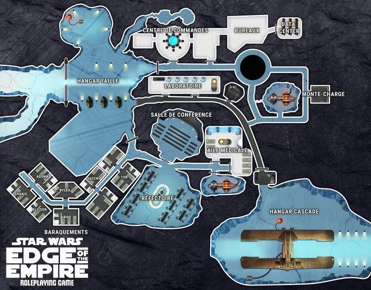 ArtStation - Star Wars RPG Map - Dubrillion secret base, Yoan Salagnac