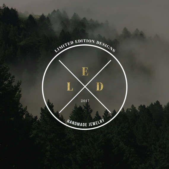 Premade Logo Design · Custom Logo · Etsy Branding · Bohemian Logo · Rustic Logo · Initials Logo · Vintage Logo · Blogger Logo · Hipster Logo