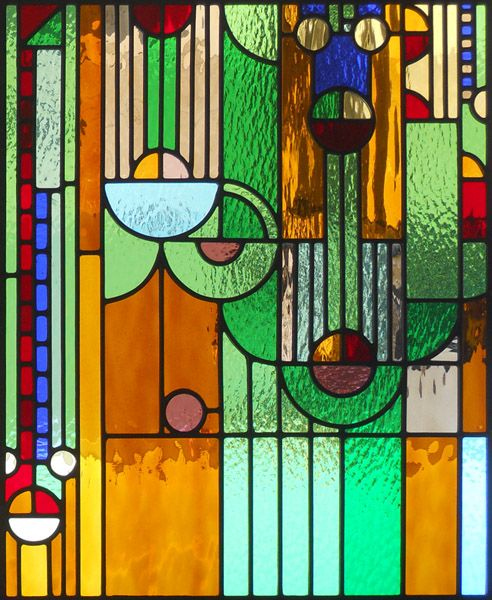 Stained Glass Art Panels | frank-lloyd-wright-stained-glass-panel-small