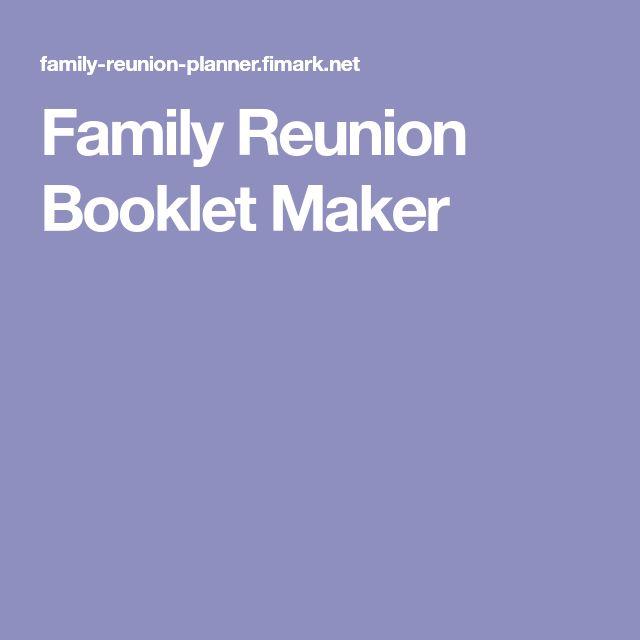 Family Reunion Booklet Maker