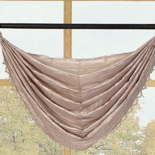 Sherry Crushed Satin Curtain Valance   Wayfair