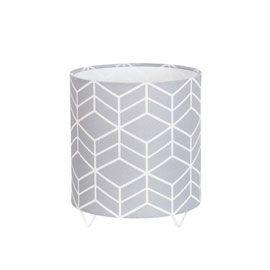 Lampe castorama gris motifs geometriques