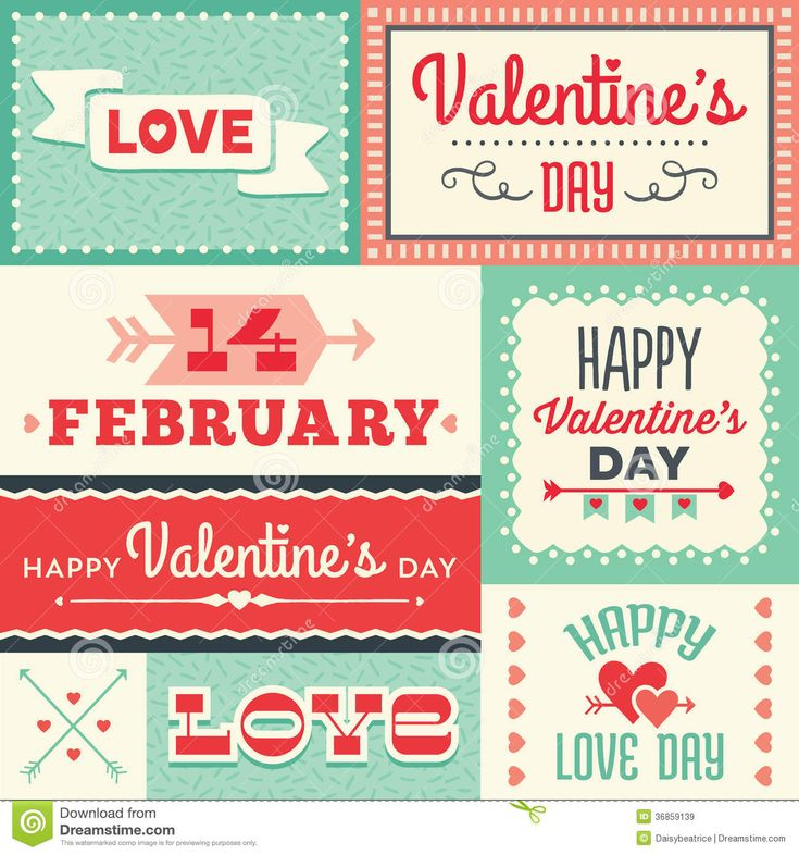 Etiquetas Y Banderas Tipográficas Del Día De Tarjetas Del Día De San Valentín Del Inconformista En Rojo Y Imágenes de archivo libres de regalías - Imagen: 36859139