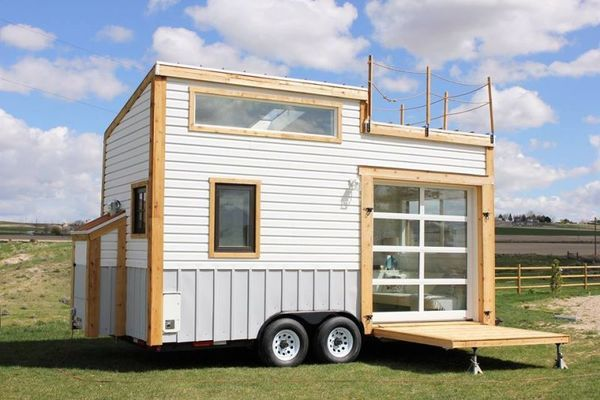 Rooftop Deck Tiny Homes Tad Homes Tiny Mobile House Tiny House Trailer Small House Design