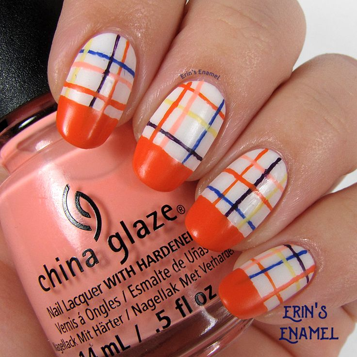 Hey, y'all! I spent all day yesterday at my niece's volleyball tournament (where they came in 2nd!), so my Day 2 post was delayed. On to my orange nail art, inspired by a Lisa Perry dre…