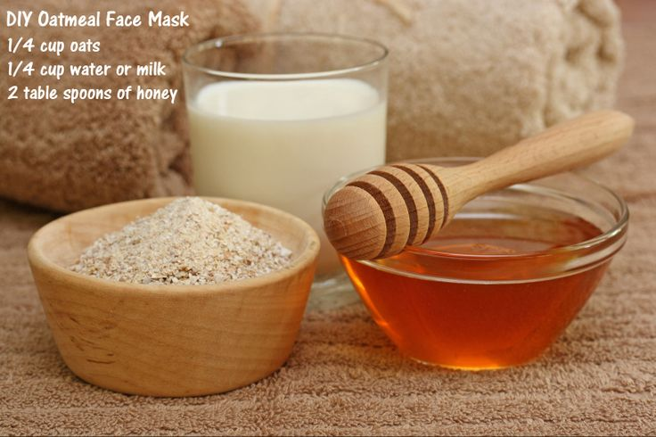 Simple oatmeal face mask for oily, acne prone skin.