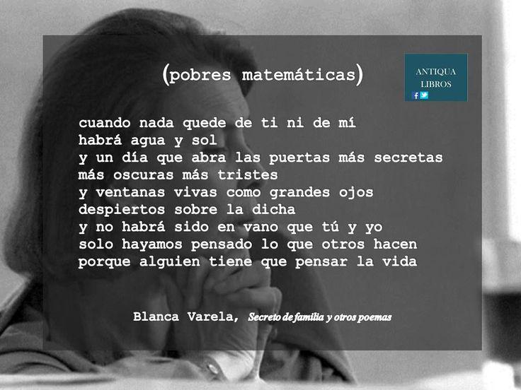 Blanca Varela, 'Secretos de familia y otros poemas'. Literatura Peruana