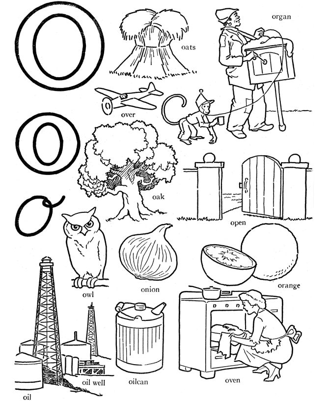 3 letter o words alphabet words coloring activity sheet letter o oven 4710