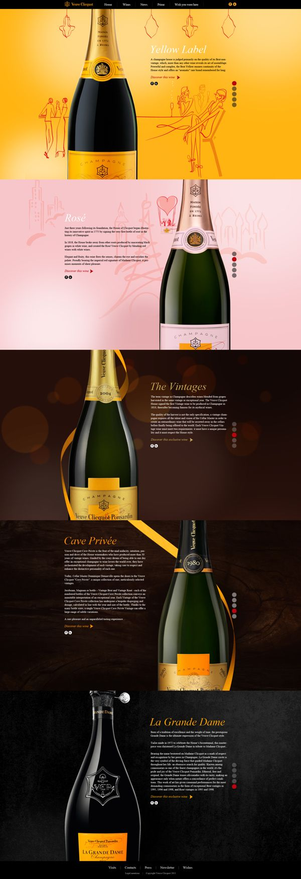 Veuve Clicquot by Christian Laporte, via Behance