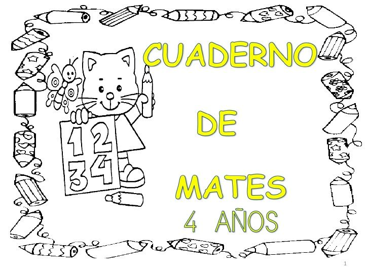 Cartilla numeros 4 años by tesabaquero via slideshare