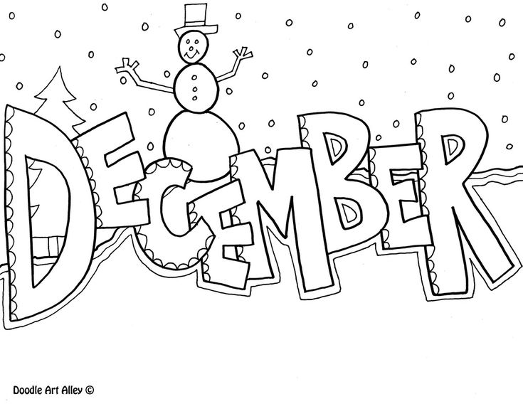 December Coloring Page More