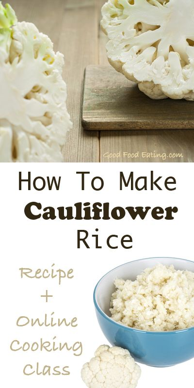 Cauliflower rice makes a great alternative to rice. It's lower in carbohydrates which makes it perfect for people who are trying to lose weight, who are diabetic, or following a low carb diet. And for those of us who are none of those it just tastes great as an alternative :)