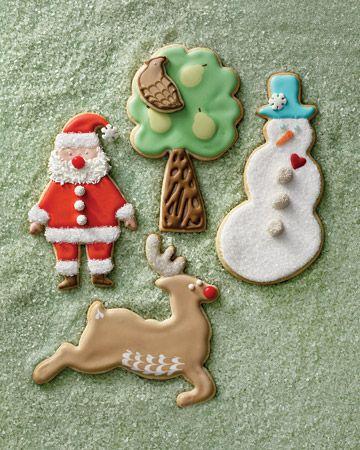 Christmas Character Sugar Cookies