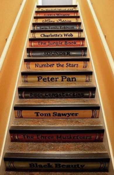 What a great idea for a literary home.