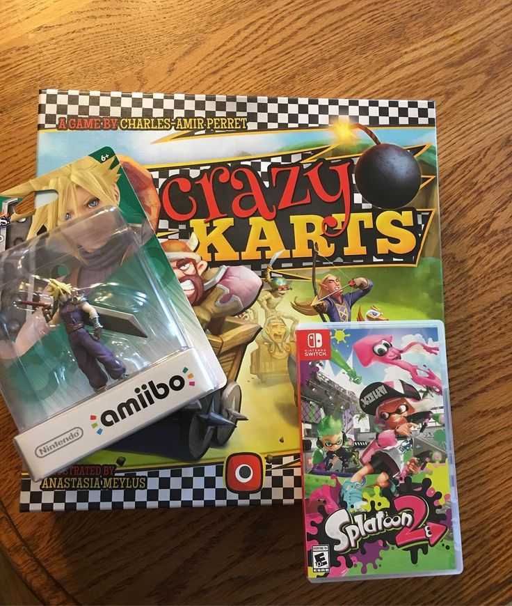 Sometimes you buy random stuff when you run a site that reviews BOTH #videogames and #boardgames. #CrazyKarts #splatoon2 #CloudAmiibo #familygames #familyfun #family #amiibo #nintendo #nintendoswitch #switch @nintendo @portalgamesde