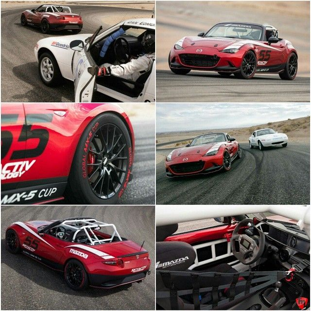 """topmiata: """"The new 2016 ND MX-5 Miata will be raced in a new Global Cup series slated to be held in North America, Europe, and Asia. The 2.0-liter Skyactiv-G four-cylinder will be the spec engine! 