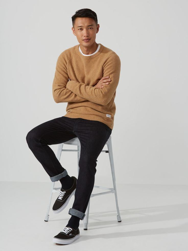 Winter-Bouclé Raglan Sweater in Camel   Frank And Oak