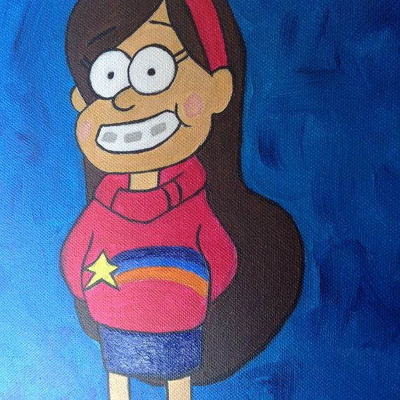 Mabel Pines Gravity Falls acrylic painting by RTMDesigns on Etsy