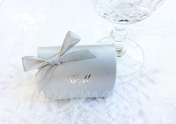 Silver Treasury Custom Wedding Favor Box_ by PaperMark4You on Etsy