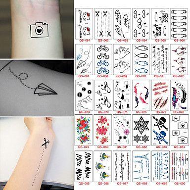 30 Tatuaggi adesivi Altro Non ToxicNeonato Bambino Da donna Da uomo Teen Tatuaggio temporaneo Tatuaggi temporanei del 5592663 2017 a €4.99