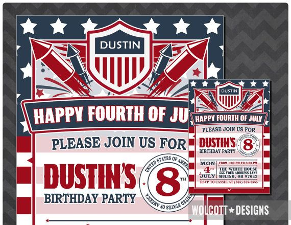 4th of July Invitation, Fourth of July Invitation, Fourth of July Invite, 4th of July Birthday, 4th of July Event, Independence Day