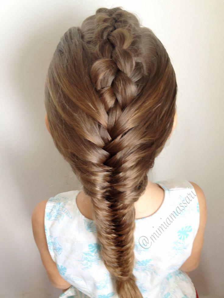 Dutch braid into fishtail braid by @mimiamassari