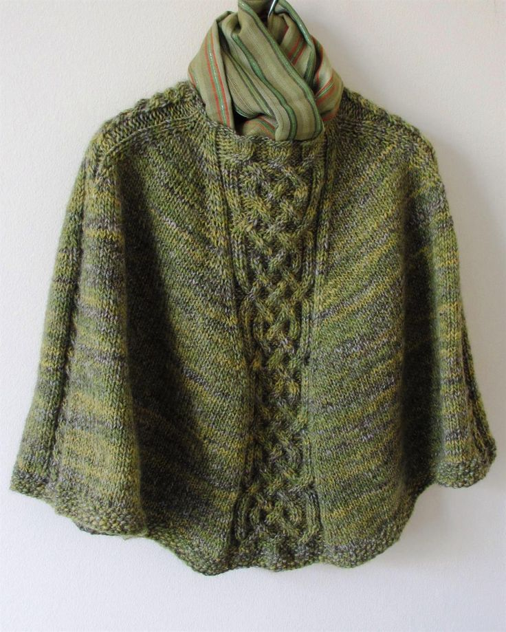 221 best Ponchos knit and crochet images on Pinterest | Free ...