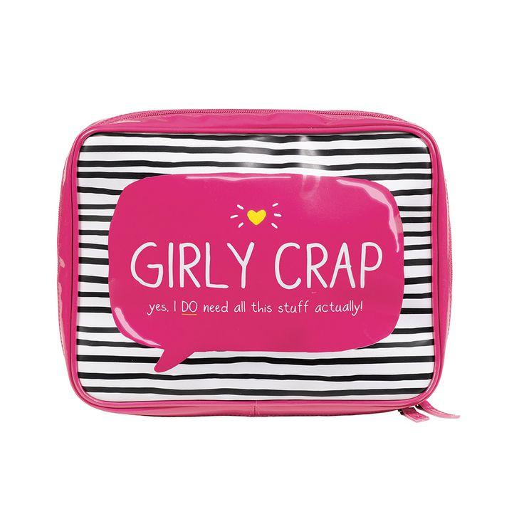 """Discover the Happy Jackson """"Girly Crap"""" Wash Bag at Amara"""