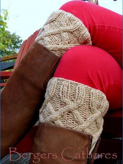 Tricotez-vous des Manchettes de bottes en pure laine
