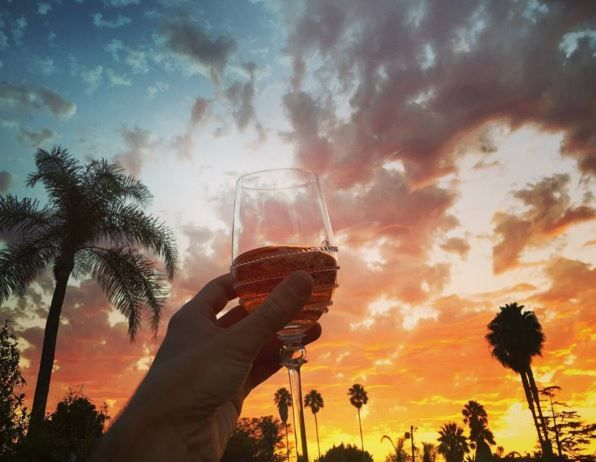 Cheers to the weekend! Wishing you stunning sunsets and glasses of bubbly as photographed our talented friend @graymalin