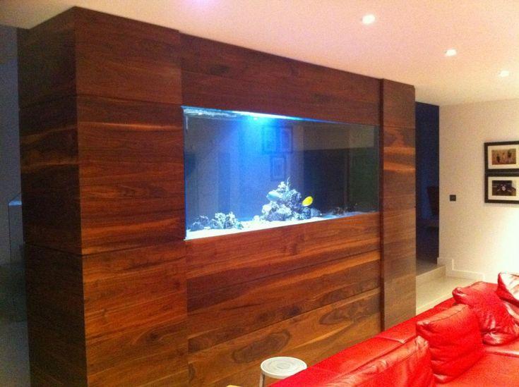 Wood surround fish tank aquariums saltwater fish tanks for Wooden fish tank