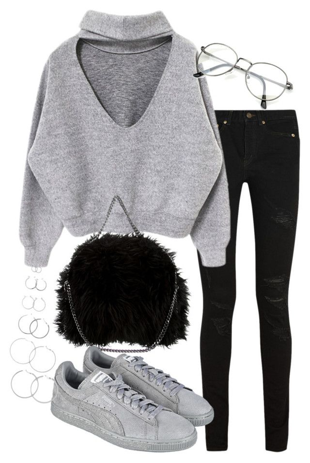 """""""Untitled #2275"""" by mariie00h ❤ liked on Polyvore featuring Yves Saint Laurent, STELLA McCARTNEY, Puma and Forever 21"""