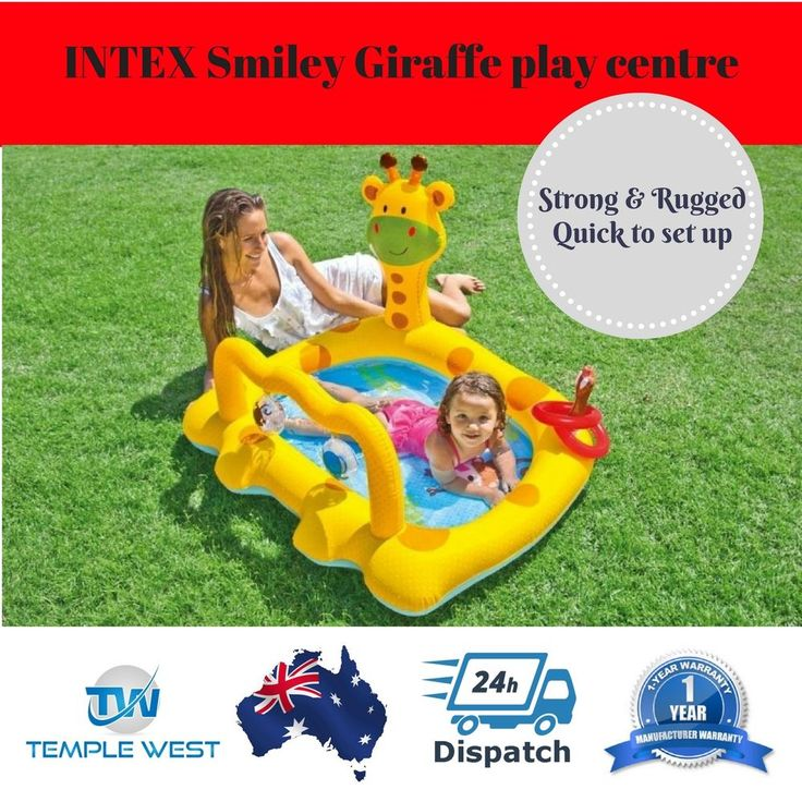 INTEX Inflatable Swimming Pool Kids Toddler Baby Paddle Water Play Ball Pitt