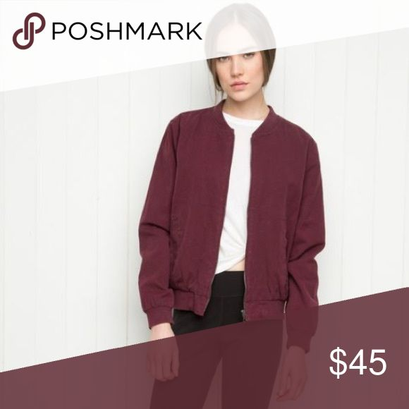 To help others shop for less NEVER WORN maroon brandy melville bomber jacket Brandy Melville Jackets & Coats