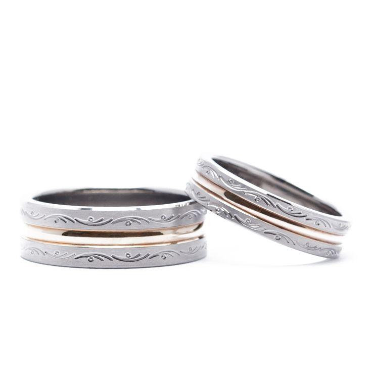【結婚指輪 With和み】「いつまでも穏やかに」と願いが籠められたデザイン。素材:Ti(チタン)。