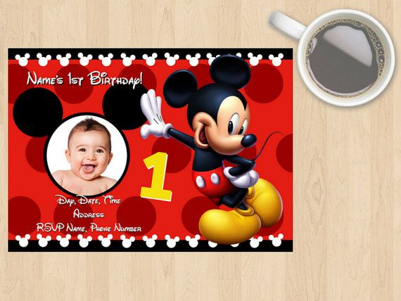 Digital Download Mickey Mouse Birthday by DesignsByMoniqueAU