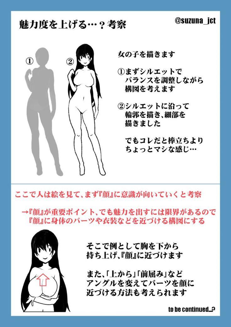 "SUZUNA JCTさんのツイート: ""絵の魅力度を上げられるかもしれない…?(考察) https://t.co/amzUllZ0ke"""