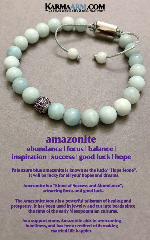 ite Amethyst CZ Pave Meditation Reiki Chakra Jewelry KarmaArm Beaded Bracelets Hope