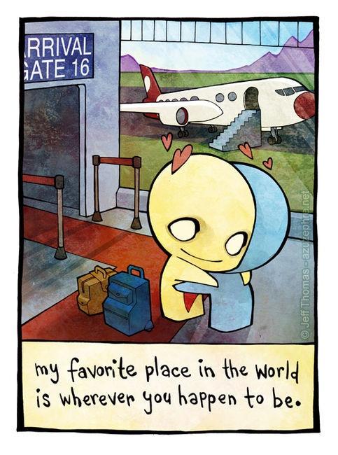 Mi sitio favorito en el mundo es donde quiera que tú estés