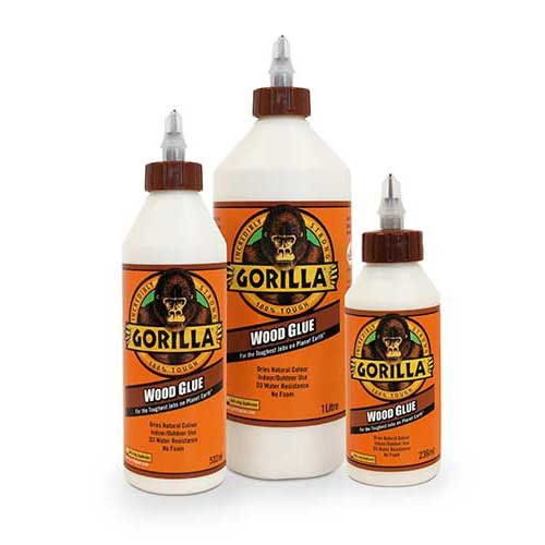 Gorilla Wood Glue is the adhesive that woodworkers, carpenters and hobbyists trust for their woodworking projects. Gorilla Wood Glue, a PVA glue, offers the benefits of an easy-to use, water-based adh